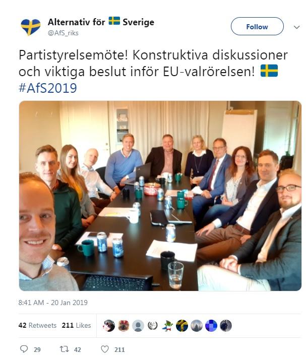 Alternativ för Sverige EU-Valet 2019